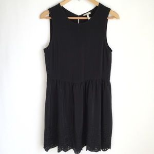 Joie Black Silk Dress Fit And Flare